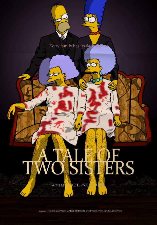 a tale of two sisters dos hermanas simpsons