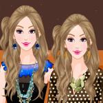 Moda de alta costura para las gemelas