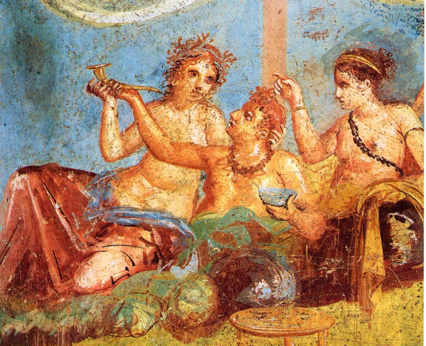 antigua roma Pompeii Casa dei Casti Amanti Banquet