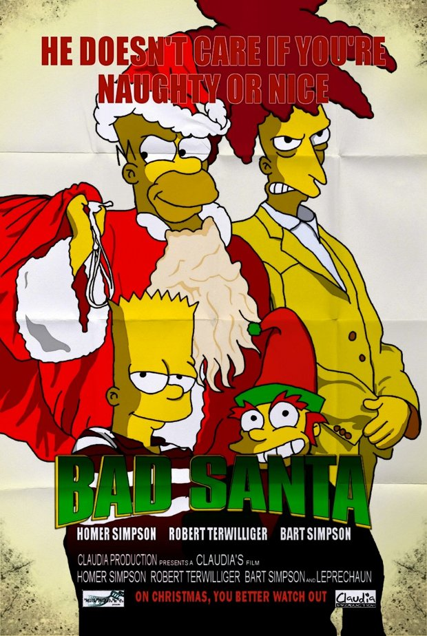 bad santa simpsons