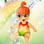 Juego de vestir al bebé arcoiris