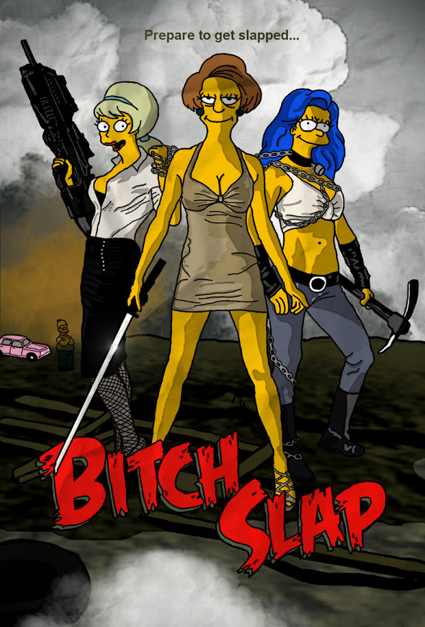 bitch slap simpsons peliculas