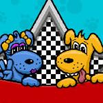 Carreras con coches de perros