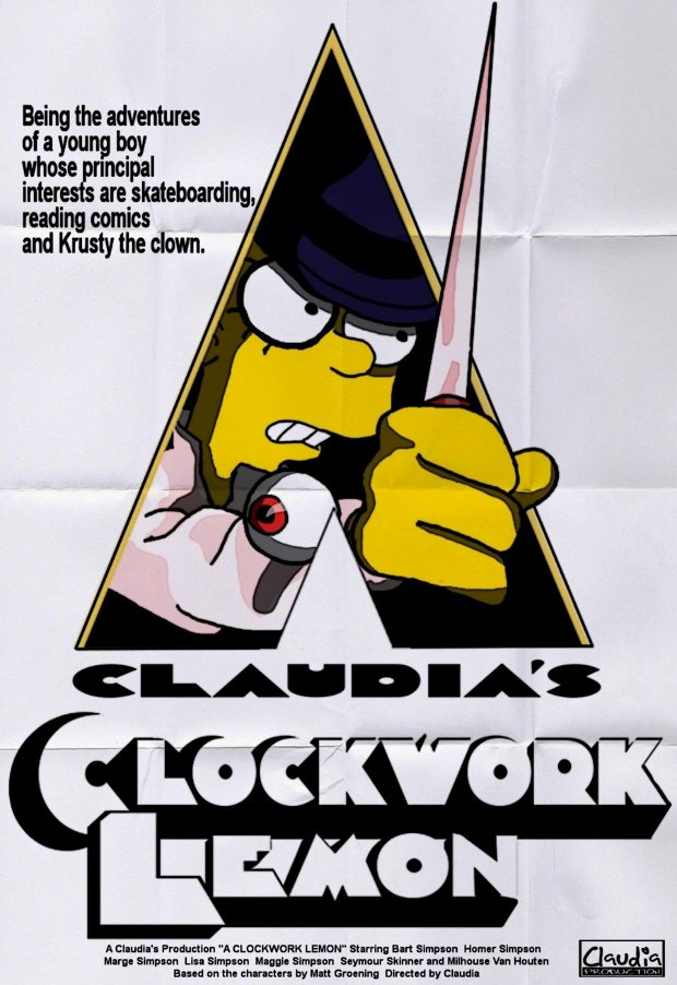 clockwork orange naranja mecanica simpsons
