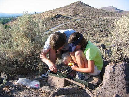 geocaching actividad tesoros
