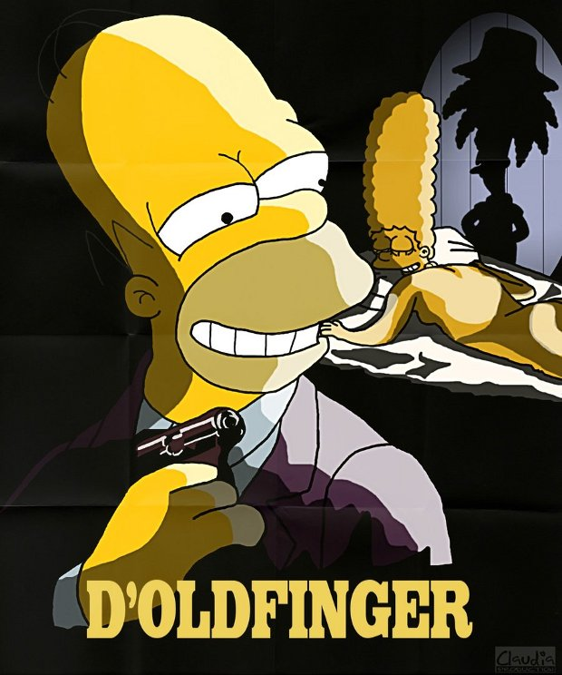 goldfinger james bond simpsons
