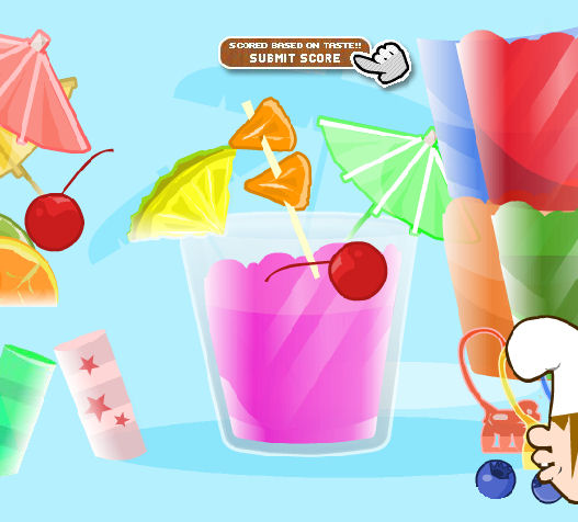 juego decorar vasos zumos jugos