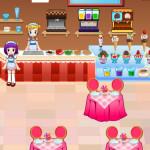 Helados y jugos en la heladería de Alice