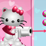 Disparar bolas con Hello Kitty
