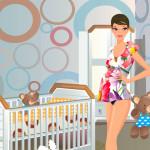 Juego de moda y vestidos para la futura madre