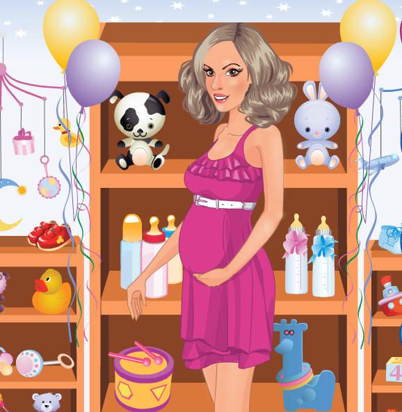juego-vestidos-joven-mama