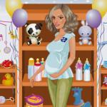 Juego de vestir a la embarazada para la fiesta