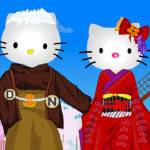 Vestir de novia a Hello Kitty