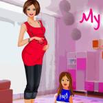 Juego de vestir a la mujer embarazada