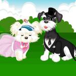 Juego de vestir a la pareja de perritos