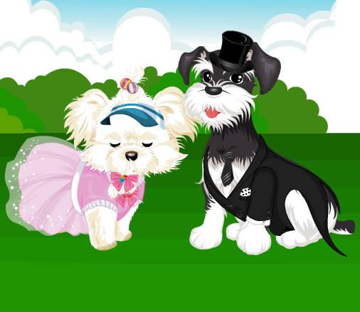 juego-vestir-pareja-perritos