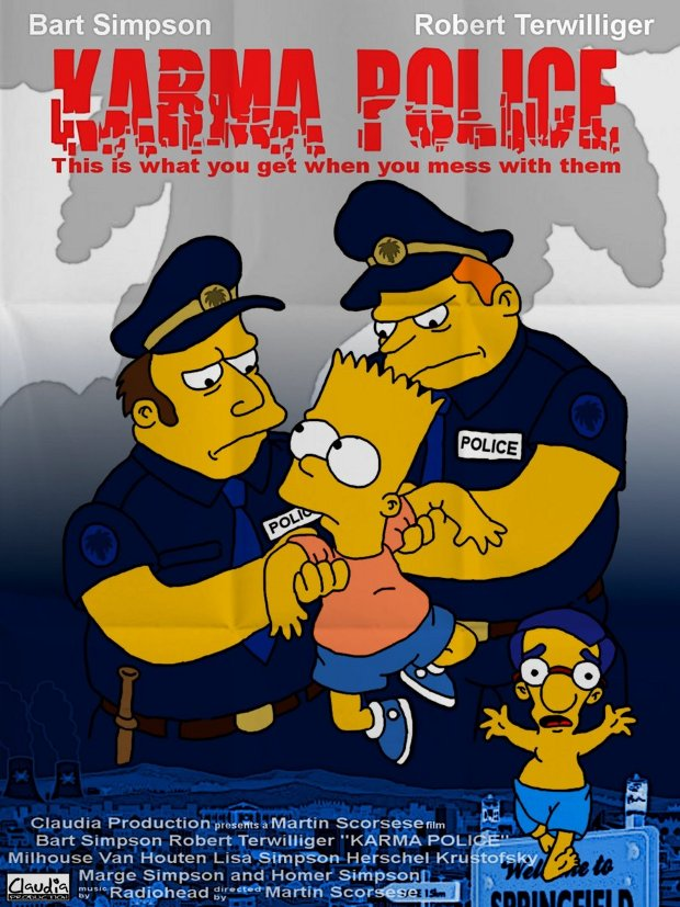 karma police simpsons