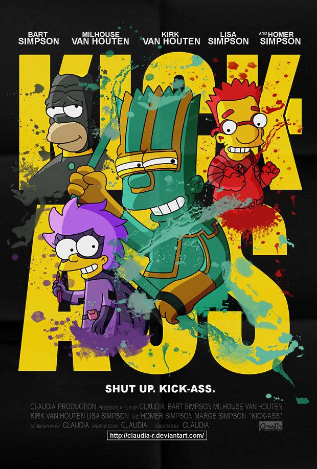 kick ass pelicula simpsons
