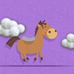 Carreras con la niña y el pony