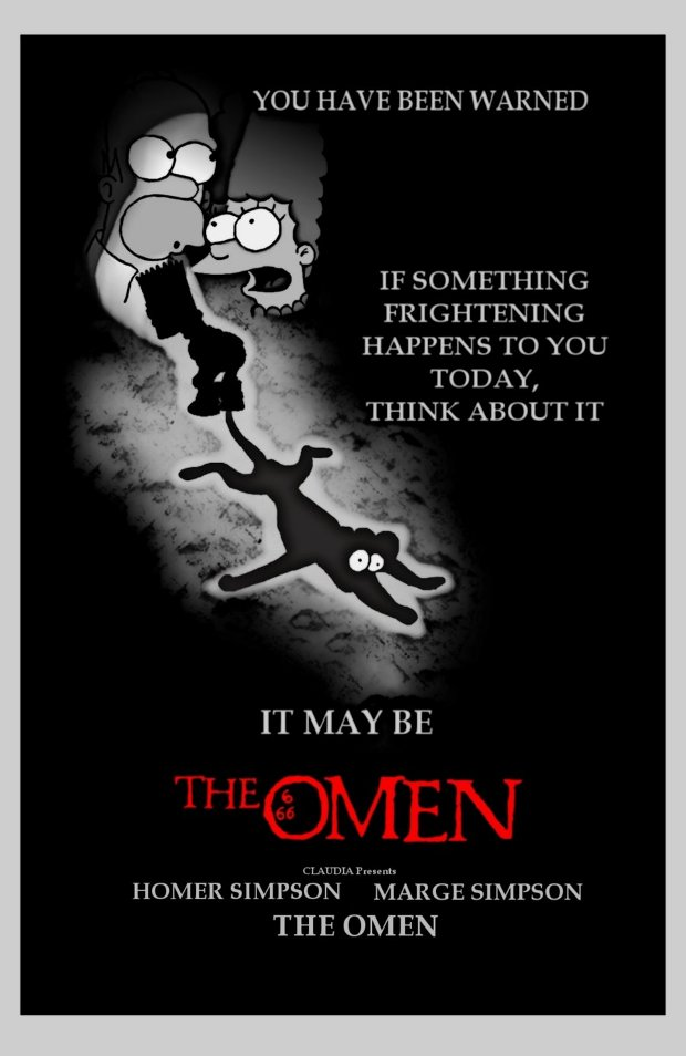 la profecia the omen simpsons