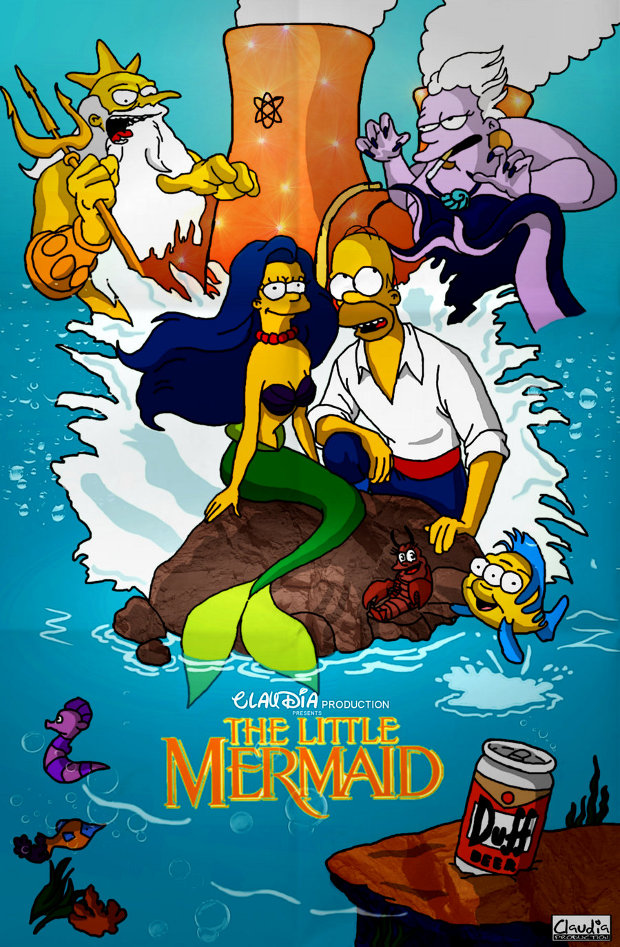 la sirenita simpsons