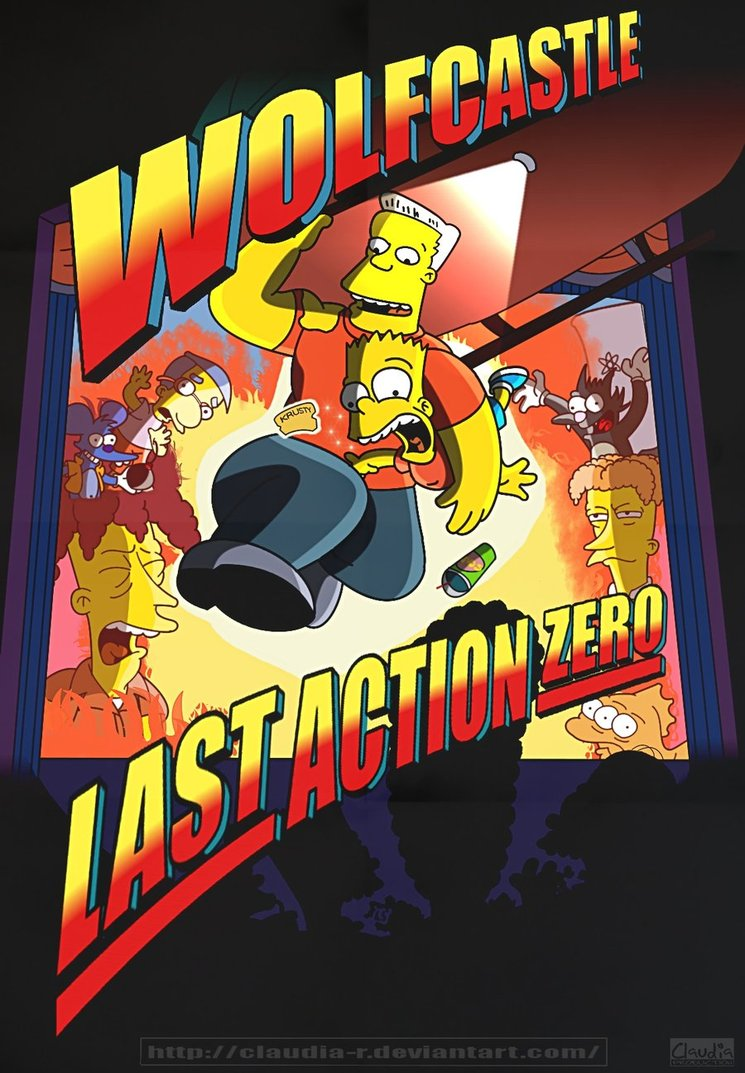 last action zero ultimo gran heroe simpsons