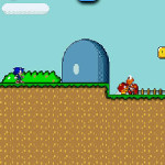 Sonic en Super Mario World