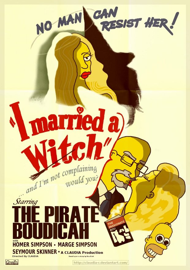 married witch case bruja simpsons