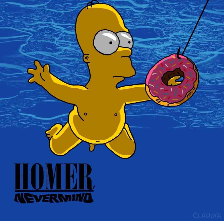 nevermind nirvana simpsons