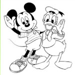 Pintar a Mickey y Donald