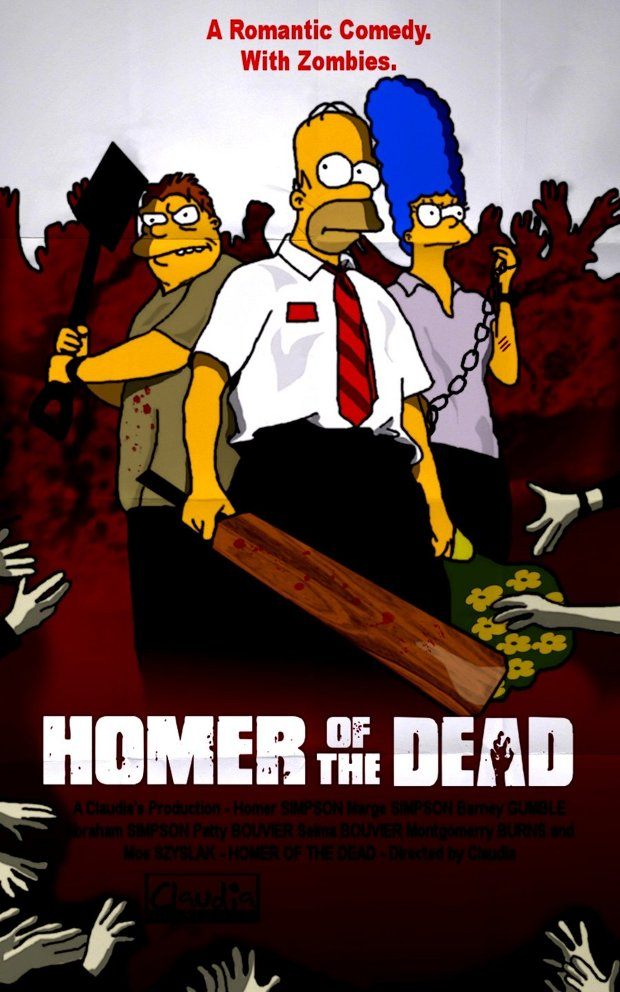 shaun of the dead zombies party simpsons