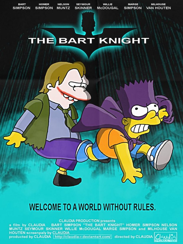 the dark knight el caballero oscuro simpsons