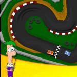 Un día en las carreras con Phineas y Ferb