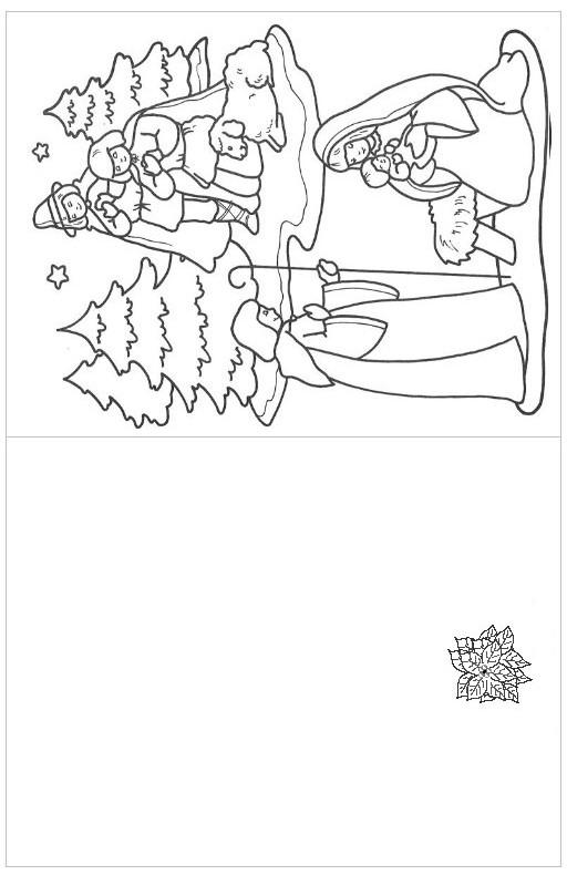 dibujos navidad pintar 10