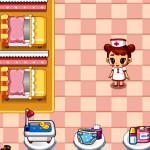 Enfermera en la clínica de bebés