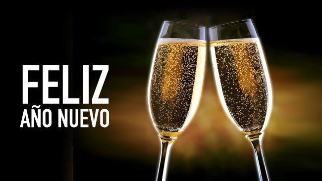 feliz ano nuevo champan
