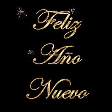 feliz ano nuevo letras doradas