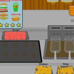 Juego de cocinar y servir hamburguesas