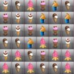 Juego de puzzle con helados