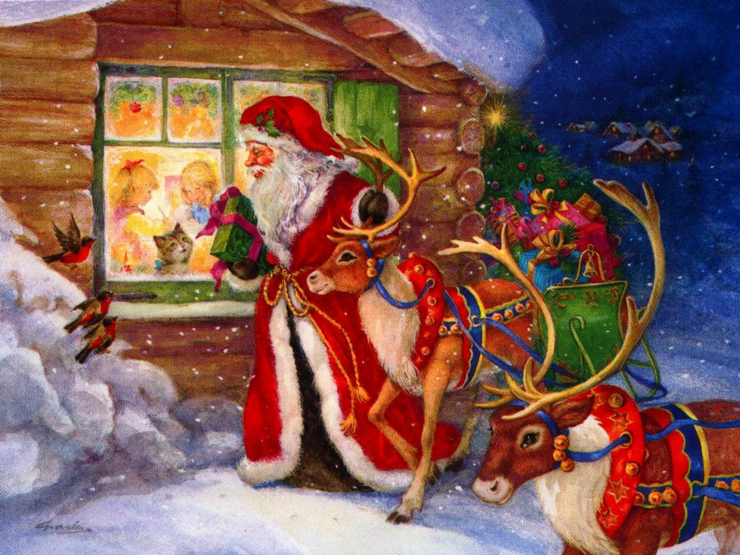 Postales Vintage De Navidad Blogodisea - Vintage-navidad