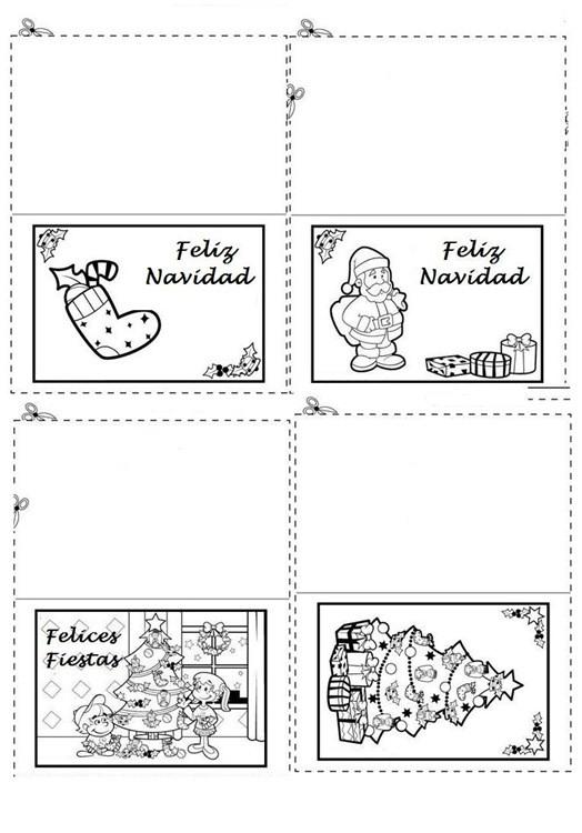 tarjetas navidad pintar 12