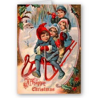 tarjetas navidad vintage 73