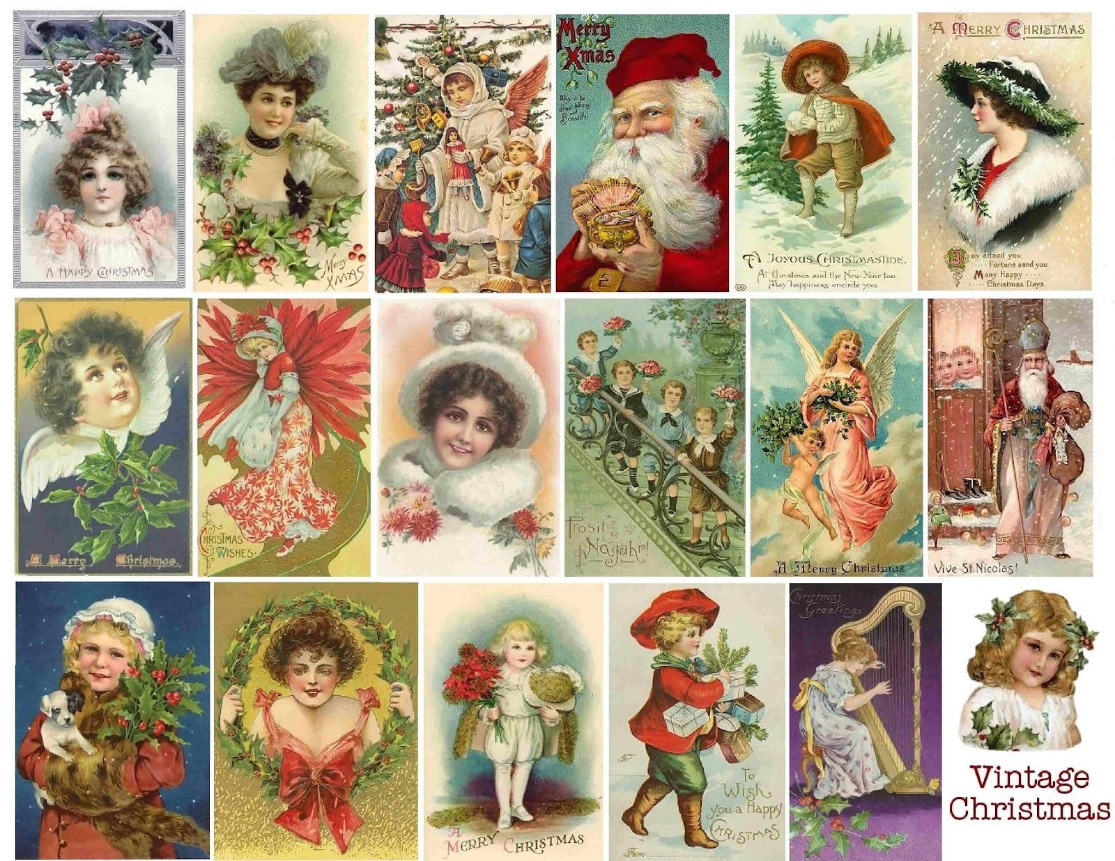 tarjetas navidenas vintage 05
