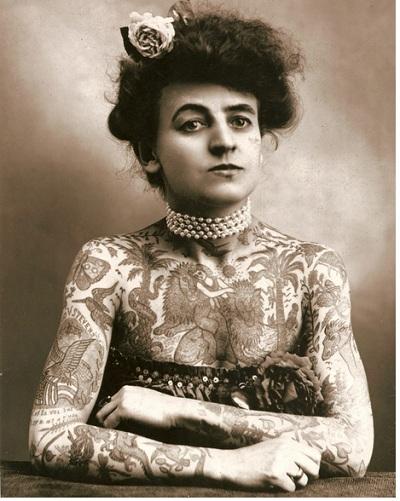 Maud Stevens Wagner primera mujer tatuajes 1911