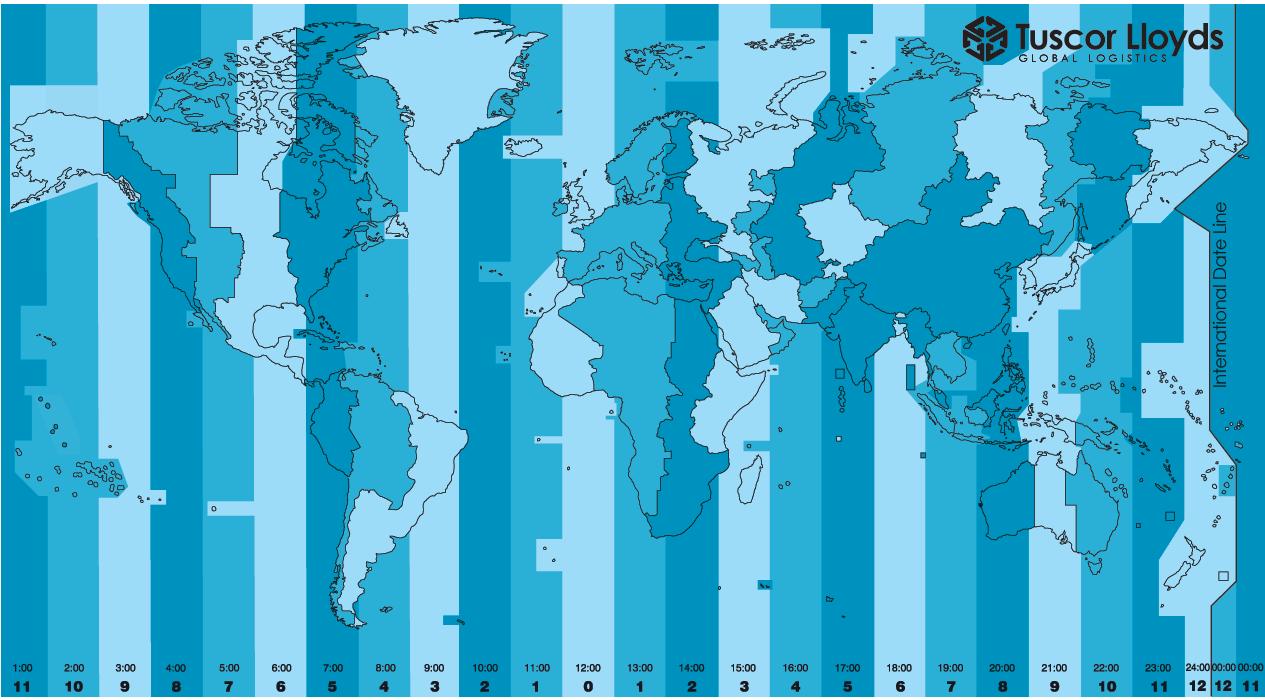 horarios mundo mapa