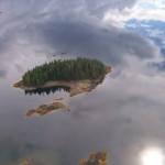 Isla flotante en Alaska