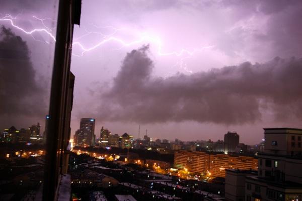 tormentas rayos Beijing