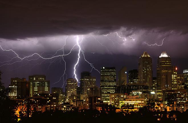 tormentas rayos Calgary