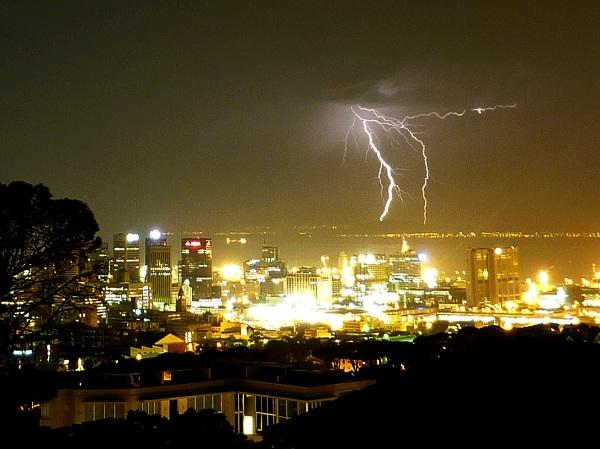 tormentas rayos Capetown