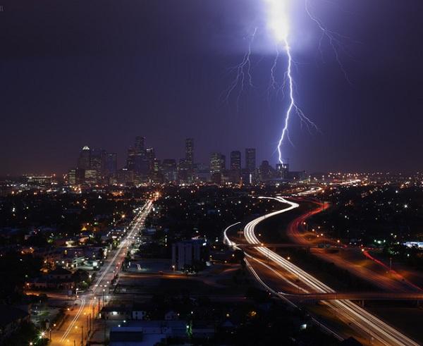 tormentas rayos Houston